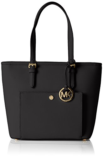 Michael Kors Jet Set TZ Snap Pocket Tote BLACK