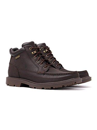 Toe Moc Marron Leather Ankle Boots Rockport Road Redemption O86qT