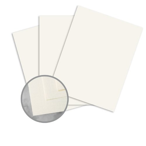 (CLASSIC Linen Recycled 100 Natural White Card Stock - 8 1/2 x 11 in 80 lb Cover Linen 100% Recycled 250 per Package)