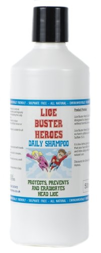 Lice Buster Heroes Daily Head lice eliminator Shampoo 500ml to Eradicate and Prevent Infestation of Head Lice by Lice Buster Heroes