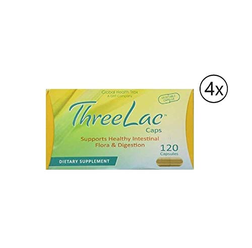 ThreeLac Probiotic Dietary Supplement 120 Capsules (4 Pack) Supports Intestinal and Digestive Health