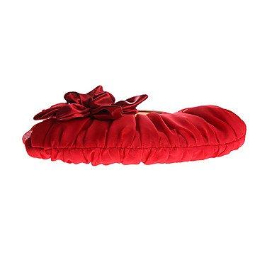 Las mujeres de poliéster Bolsa de noche All Seasons evento formal/fiesta de boda Broche de flor Shell Bloqueo de albaricoque Amatista Plata Negro,Rojo rubí White