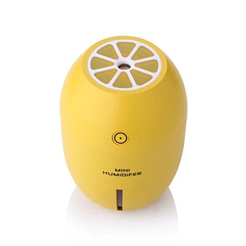 ZZY 180 ML Creativo Limón Mini USB Humidificador Ultrasónico Portátil DC 5 V LED Purificador de Aire Mist Fabricante para...