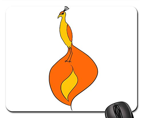 - Mouse Pads - Phoenix Bird Bird of Paradise Animal Orange Fiery