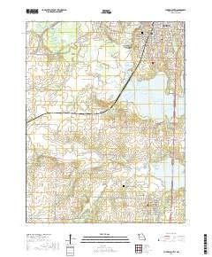 Clinton South, Missouri topo map by East View Geospatial, 1:24:000, 7.5 x 7.5 Minutes, US Topo, 22.8