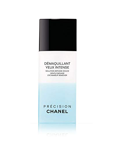 NIB DÉMAQUILLANT YEUX INTENSE Gentle Bi-Phase Eye Makeup Remover 3.4 oz + Free Trial Size Designer Beauty Gift with Purchase (Chanel Eye)
