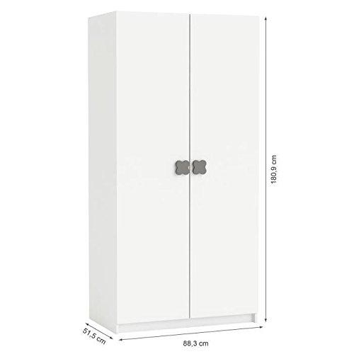CLOVER Armoire 2 Portes Coloris Blanc Perle DEMEYERE 3397702047509