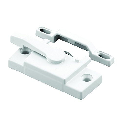 Prime-Line F 2744 Sash Lock, Single Unit, White - Diecast Construction, White Powder Coat w/ Enamel Finish, Designed for both Single & Double Hung Windows