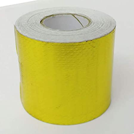 Gold 1200° f Continuous Car Auto High Temperature Heat Shield Wrap Protector Tape (5meter/roll) oem TG-005
