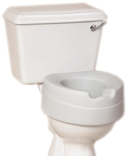 NRS Healthcare Comfort Foam Filled Raised Toilet Seat - 4? inches High by NRS Healthcare