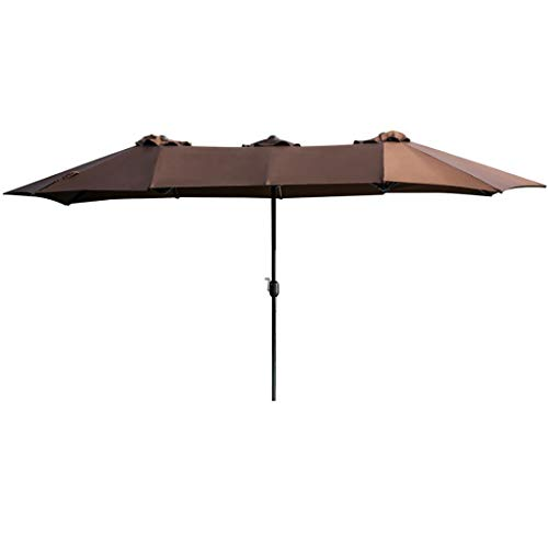 Deluxe Patio Umbrella Stand - Sttech1 Home Outdoor Life Large Solid Color Umbrellas Deluxe Outdoor Life Solid Color Patio Umbrellas Coated Waterproof Garden Umbrella (Coffee)
