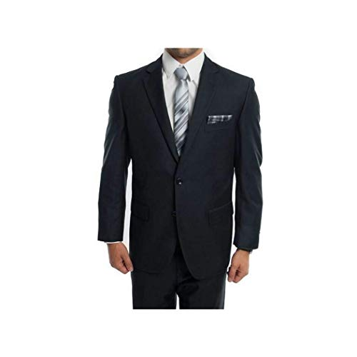 ton Single Breasted Classic Fit Suit New with Notch Lapels (52L/46Waist Regular) ()