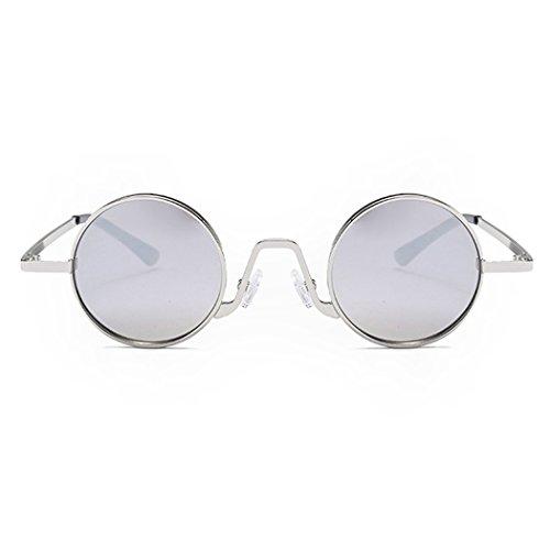 Frame Fansport Aire Lentes De Libre De Sol Sol Montura Metálica Viajes De Retro Gafas con Gafas Sol para Silver De Al Moda Gafas Silver gIqFrg4