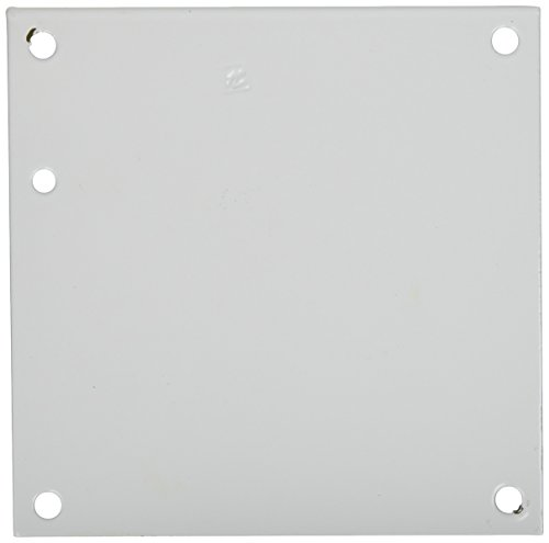 "Hoffman A6P6 Conductive Panels for JIC Enclosure, Steel/Aluminum, J Box/4.88"" x 4.88"", Fits 6"" x 6"", White"