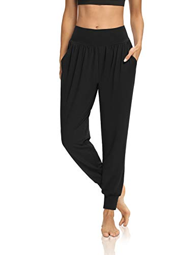 DIBAOLONG Womens Yoga Joggers Loose Workout Sweat Pants Comfy Lounge Pants with Pockets