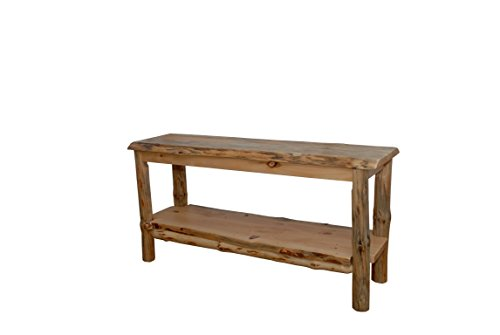 Rustic Pine Natural Live Edge Slab TV Stand/Sofa Table - Amish Made in USA (Michael's Cherry Stain)