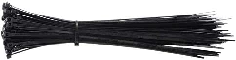 Pumbaa Nylon Cable Tie 3x200mm Self-Locking Nylon Fasten Zip Cables Tie Fixing Ring Black Organiser Fasten Cable Wire Cables Zip Ties
