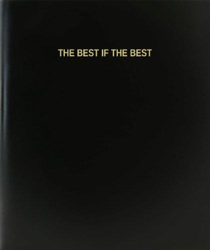 BookFactory® The Best If The Best Log Book / Journal / Logbook - 120 Page, 8.5''x11'', Black Hardbound (XLog-120-7CS-A-L-Black(The Best If The Best Log Book)) by BookFactory