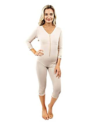 b3f28002f81 Image Unavailable. Image not available for. Color  ContourMD Full Body  Shaper for Women w Sleeves Mid Calf ...