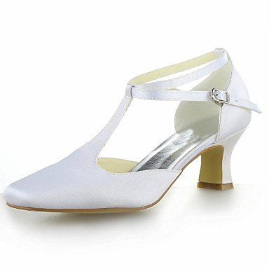 Shoes For Women Heels Square Toe Kitten Heel Satin Pumps with Buckle Wedding Shoes For Women More Colors