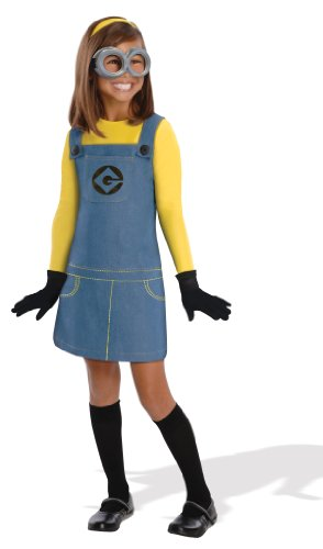 [Despicable Me 2 Deluxe Girls Minion Costume, Medium] (Costume Minions)