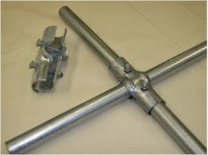 "Chain link Fence Line Rail Clamp 1-3/8"" x 1-3/8"""
