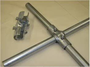 """1-5//8/"""" x 1-5//8/"""" End Rail Clamp for Chain Link Fence"""