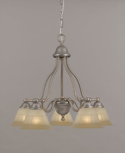 Providence 5 Light Chandelier Glass Color: White Alabaster, Finish: Rustic Bronze