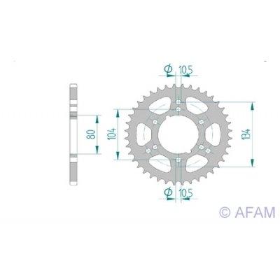 80mm 520 Schrauben Lochkreis Innendurchmesser Stahl 6x10,5mm 104//134mm Bj Teilung AFAM Kettenrad Stahl Teilung 520 Z/ähne 36 f/ür Polaris Scrambler 500 2000