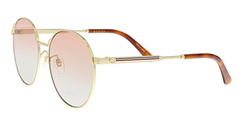 Sunglasses Gucci GG 0206 SK- 004 GOLD / - Round Gucci Sunglasses