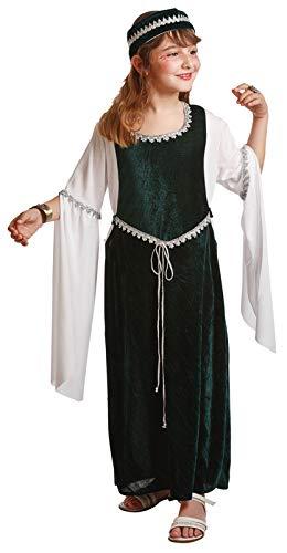 Disfraz de medieval para niña (5 - 6 años): Amazon.es ...