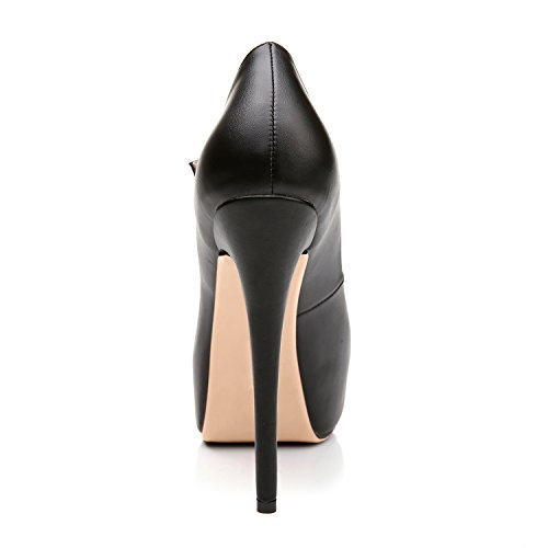 Spillo Pompe Nero 7 Da A Caviglia Della Tacchi Alti Alla Mary Piattaforma Sera Donne Scarpe Jane Formato Cinturino qxzTrZq8n