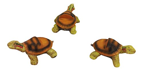 (Set of 3 Poly Resin Turtle Shaped Pot Feet or Planter Risers (Medium Size Turtle Shape Each Measures 3 inches Long, 1.5 inches Tall) )