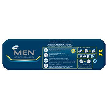TENA Incontinence Guards for Men, Moderate Absorbency, 48 Count - Pack of 6