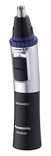 Panasonic ER-GN30 Nose, Ear and Facial Hair Trimmer (Wet/Dry with Vortex Cleaning System) - Black