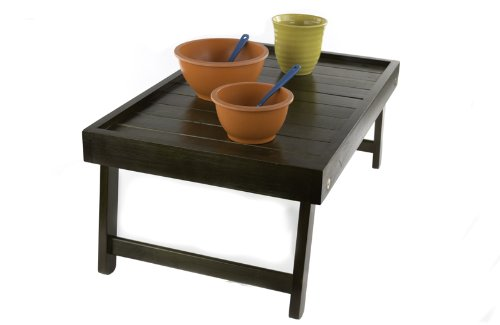 Wooden Bed Table - Portable Folding All Purpose Serving Tray Table