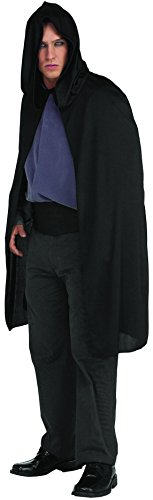 Rubie's Costume Hooded Cape 3/4 Length Costume, Black, One Size