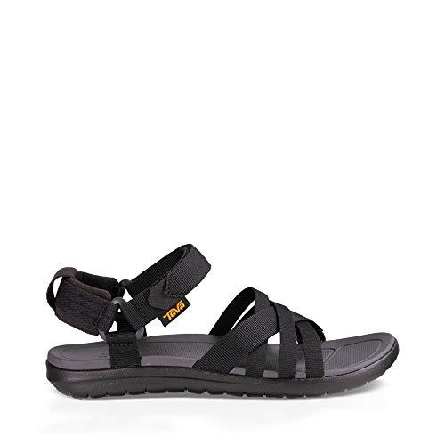 Teva Women's W Sanborn Sandal, Black, 7 M US