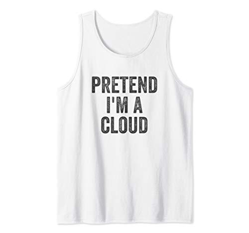 Lazy Halloween Costume Shirt Gift Pretend I'm A Cloud Tank Top