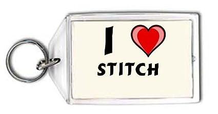 Shopzeus Llavero con Estampado de Te Quiero Stitch (Nombre ...