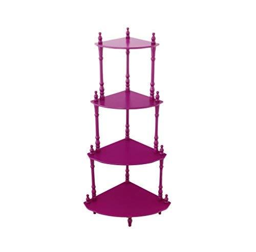 Frenchi Home Furnishing Kid's 4-Tier Shelves (Bookshelf Purple)