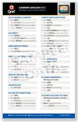 Garmin GMX200 Qref Card Checklist (Qref Avionics Quick Reference)