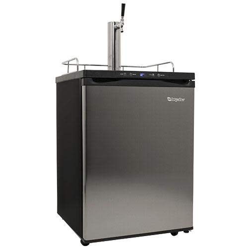 Price comparison product image EdgeStar KC3000SS Full Size Kegerator with Digital Display - Black and Stainless Steel