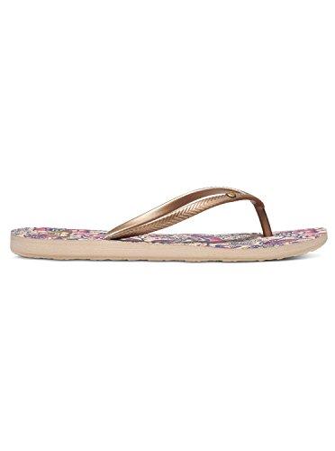 Roxy Womens Bermuda Sandal Flip Flop, Golddark Pink, 8 M Us  Flip Flops  Gloria -3585
