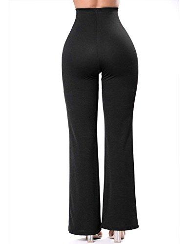 De Lace Slim Haute Women Femmes Taille Summer Pants Business Vêtements Fit Mode Wide Élégant Base Cocktail Baggy up Black Party g7nqYnI
