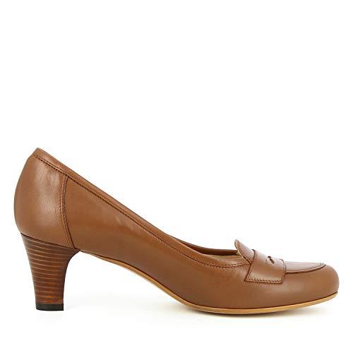 Cuir Evita Shoes Cognac Giusy Gum Femme Lisse Trxxquyo Escarpins E5wXdWqW4