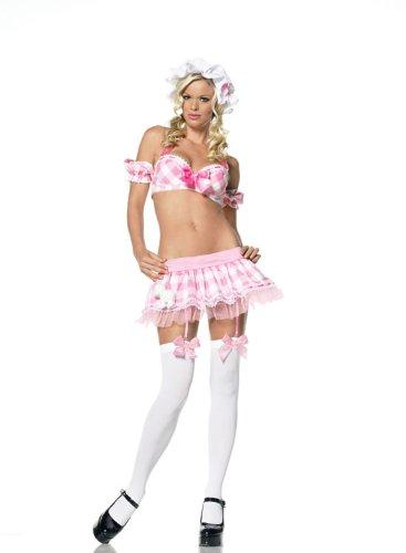 [Little Bo Peep Costume Lingerie - Medium/Large - Dress Size 8-12] (Bo Peep Costumes Adults)