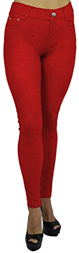 belle-donne-womens-jeggings-pull-on-denim-jeans-super-stretchy-red-2x-large
