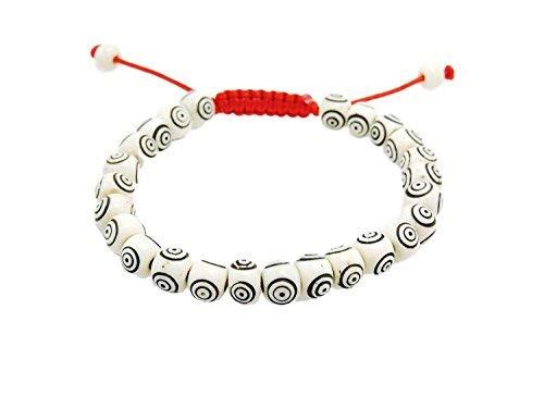 Tibetan Mala Carved Yak Bone Wrist Mala Bracelet for Meditation