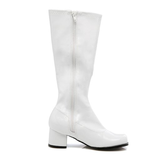 Girls White Go Go Boots X-Large (4-5) (White Gogo Boots For Kids)